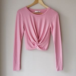 Wilfred Free Ortiz cropped knot long sleeve top